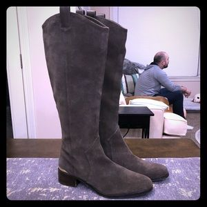 Louise et Cie Olive Suede Knee High Riding Boot